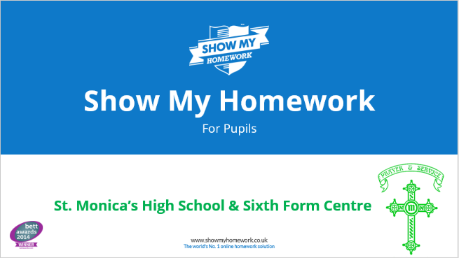 Show my homework - Pupil Guide
